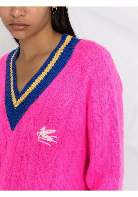 Fuchsia/Blue jumper ETRO | SWEATER | 187369213650
