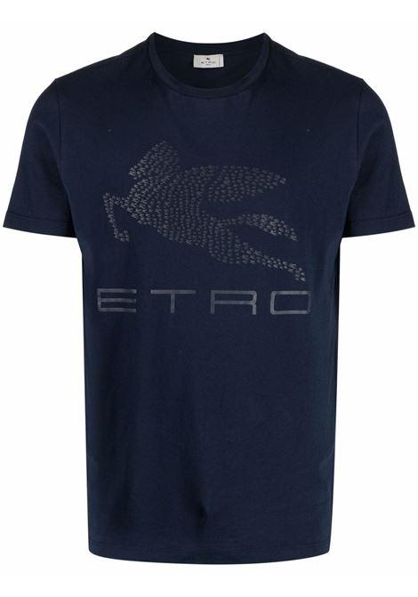 T-shirt blu ETRO | T-SHIRT | 1Y0209707200