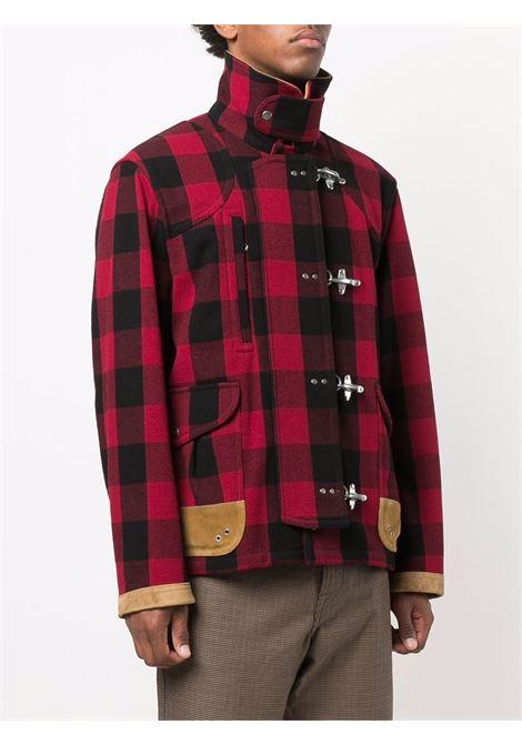 Cappotto rosso/nero FAY | NAM12431510TQS0PTD