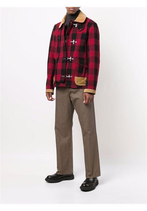 Cappotto rosso/nero FAY   CAPPOTTI   NAM12431510TQS0PTD