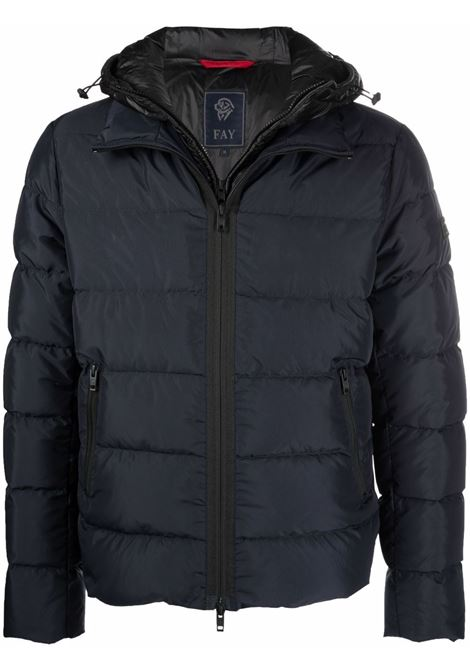Blue padded jacket FAY   NAM32430270TPRU809