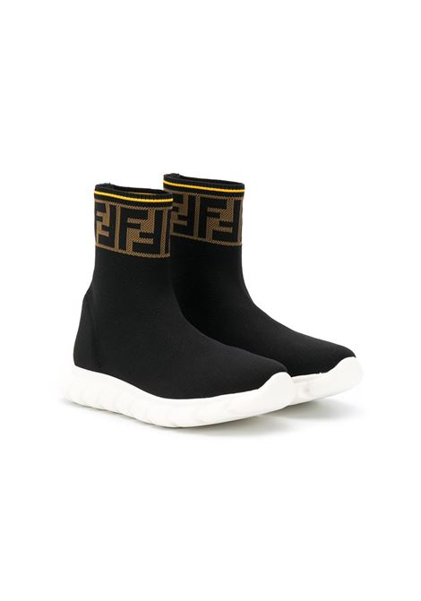 Sneakers nera FENDI KIDS | JMR322A62LF15GD