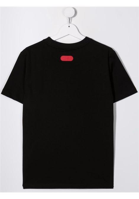 T-shirt nera GCDS KIDS | 028491T110
