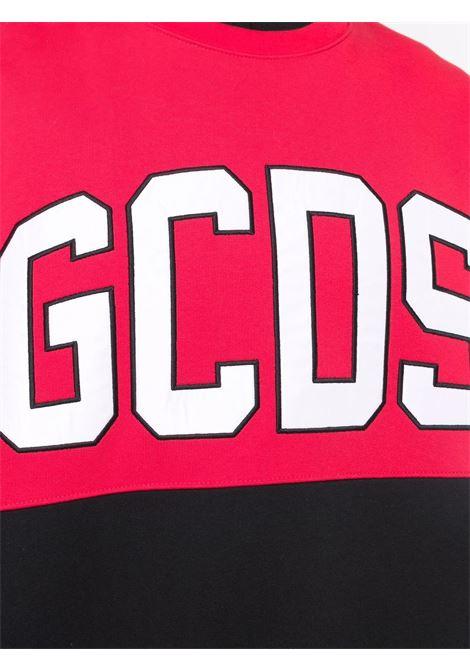 Felpa nera/rosso/bianco GCDS | FELPE | CC94M02151403