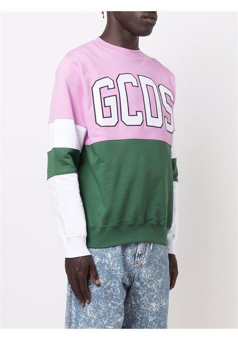 Felpa rosa/verde/bianco GCDS | FELPE | CC94M021514MIX