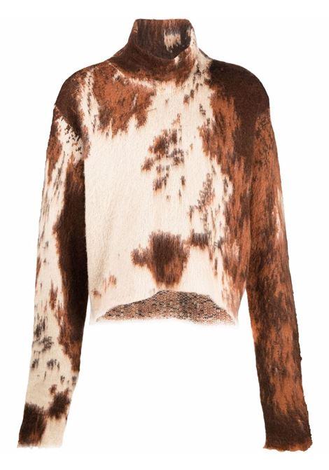 Maglione marrone/bianca GCDS | FW22M02000414