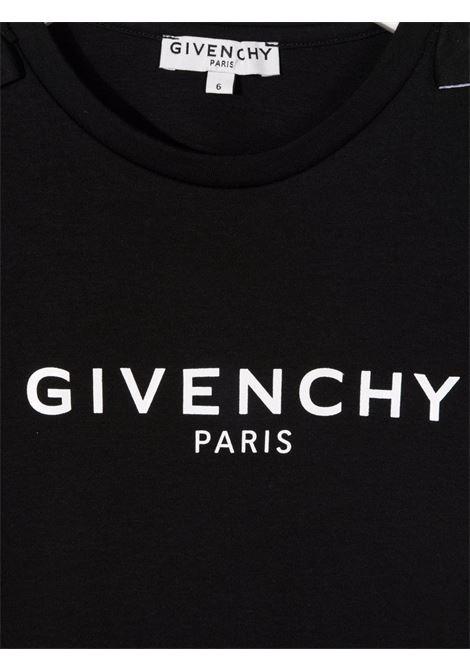 T-shirt nero GIVENCHY KIDS | T-SHIRT | H1521909B