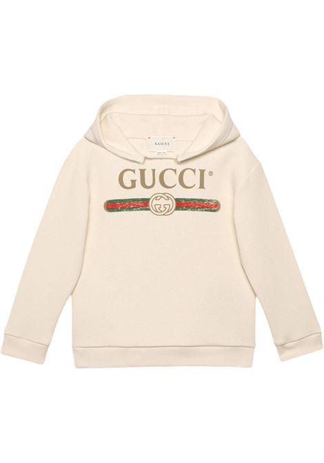 Felpa bianca GUCCI KIDS | 532555X9P009112