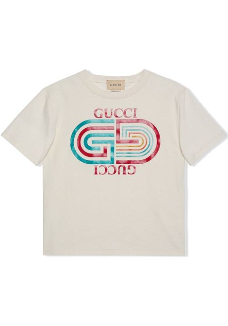 T-shirt bianca GUCCI KIDS | T-SHIRT | 575114XJDKO9247