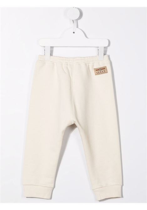Pantalone bianco GUCCI KIDS | 653684BXJDKB9061
