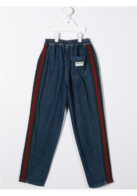 Pantalone blu GUCCI KIDS | 660168XDBOY4447