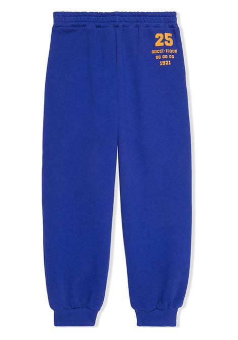 Pantalone blu GUCCI KIDS | 660770XJDK94120