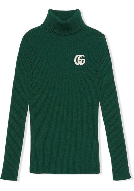 Maglia verde GUCCI KIDS | MAGLIE | 663184XKBXU3072