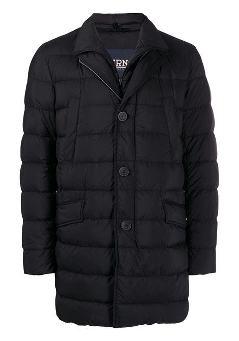 Black padded jacket HERNO   PI007ULE192889300