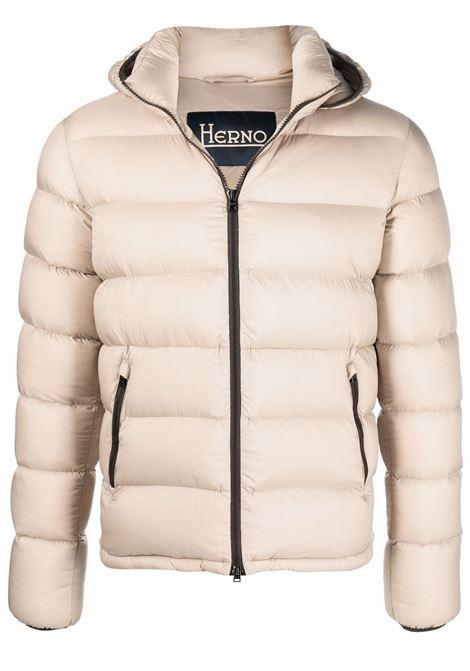 Beige padded jacket HERNO   PI0766U124031985