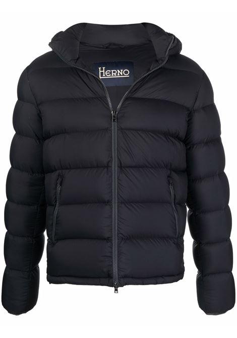 Black padded jacket HERNO   PI0766U124039300