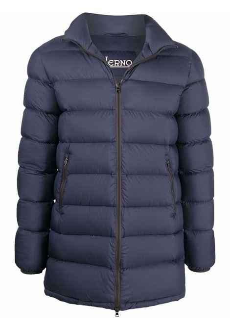 Blue padded jacket HERNO   PI0768U124039200