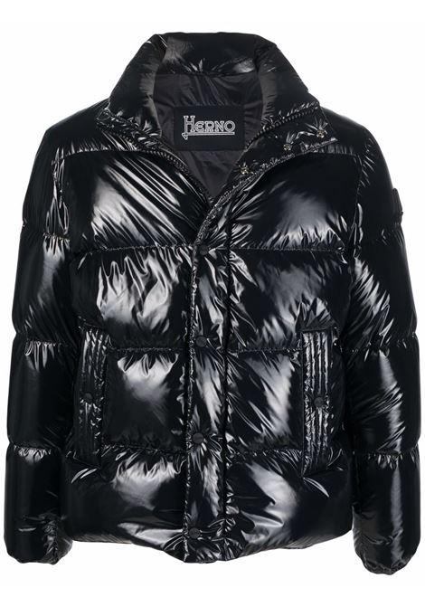 Black padded jacket HERNO   PI0773U122209300