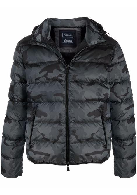 Black padded jacket HERNO   PI203UL12390P9394