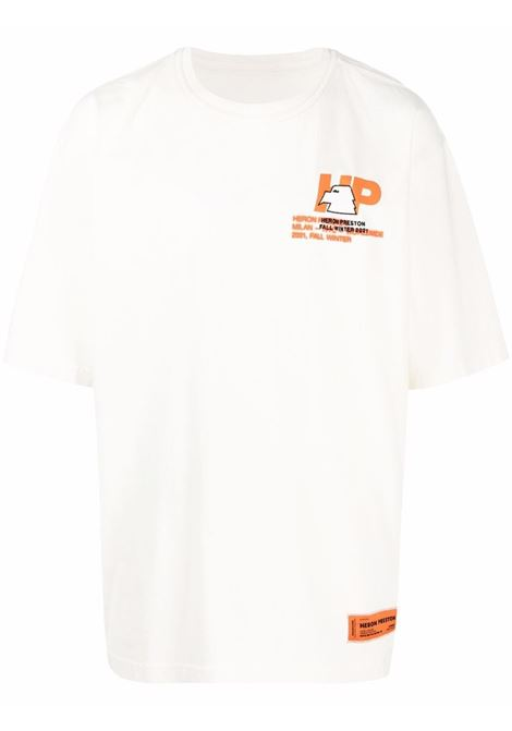 White t-shirt HERON PRESTON | HMAA025F21JER0030440