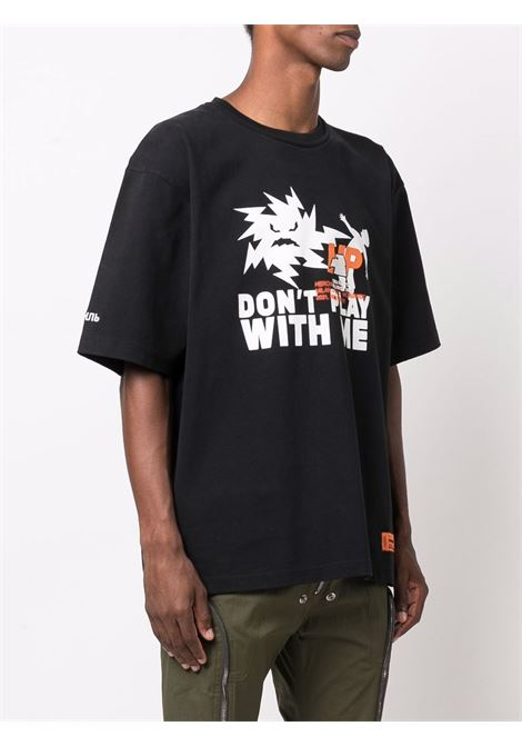 Black t-shirt HERON PRESTON | HMAA025F21JER0041001