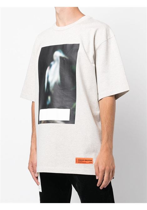 Grey t-shirt HERON PRESTON | HMAA026F21JER0010805