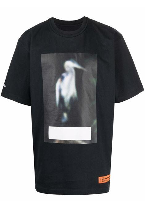 Grey t-shirt HERON PRESTON | HMAA026F21JER0011005