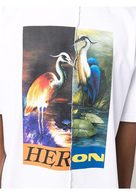 White t-shirt HERON PRESTON | HMAA029F21JER0010122