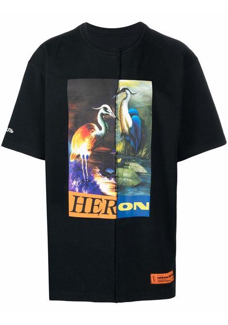 Black t-shirt HERON PRESTON | HMAA029F21JER0011022