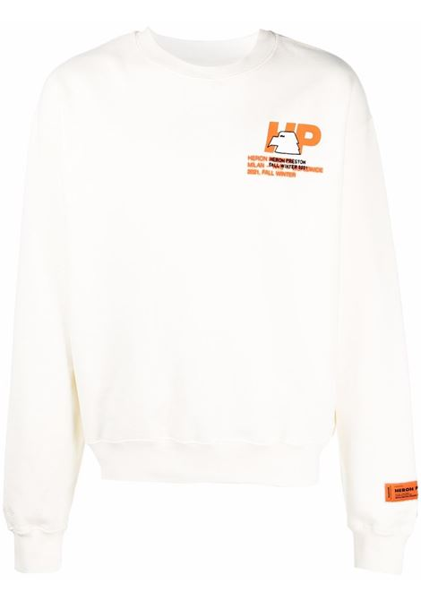 White sweatshirt HERON PRESTON | HMBA016F21JER0030440