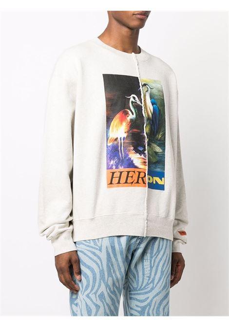 Grey sweatshirt HERON PRESTON | HMBA018F21JER0010822