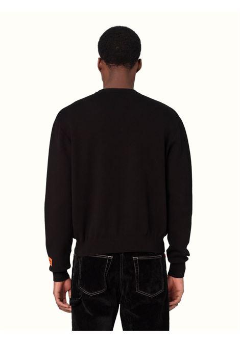 Black sweatshirt HERON PRESTON | HMHE006F21KNI0021001