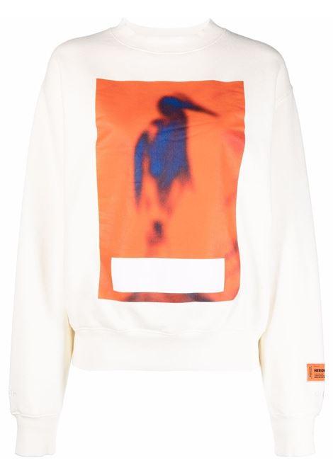 White sweatshirt HERON PRESTON | HWBA007F21JER0010422