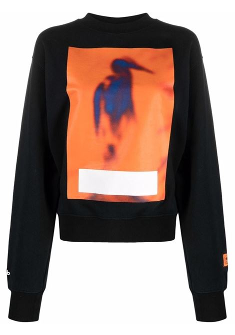 Black sweatshirt HERON PRESTON | HWBA007F21JER0011022