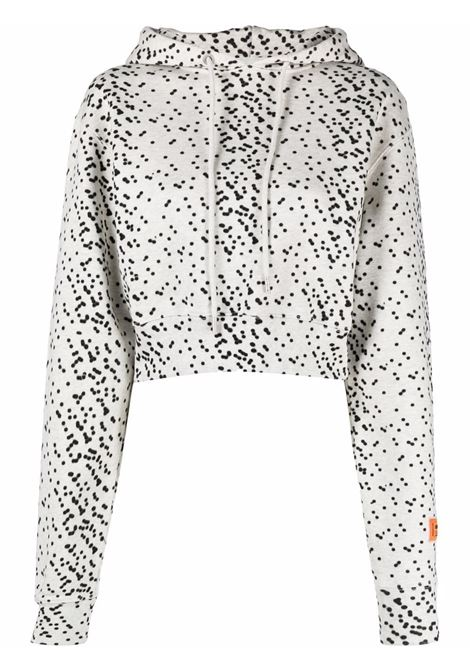 White/black sweatshirt HERON PRESTON | HWBB021F21JER0030810