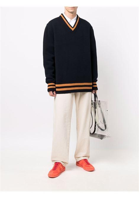 Black/orange jumper MAISON MARGIELA | SWEATER | S50HA1027S17834511F