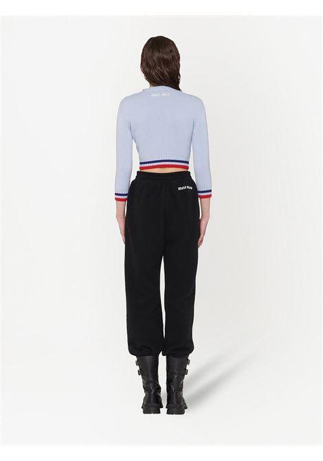 Maglione blu/rosso MIU MIU | MAGLIONE | MML4701Y5RF0M10
