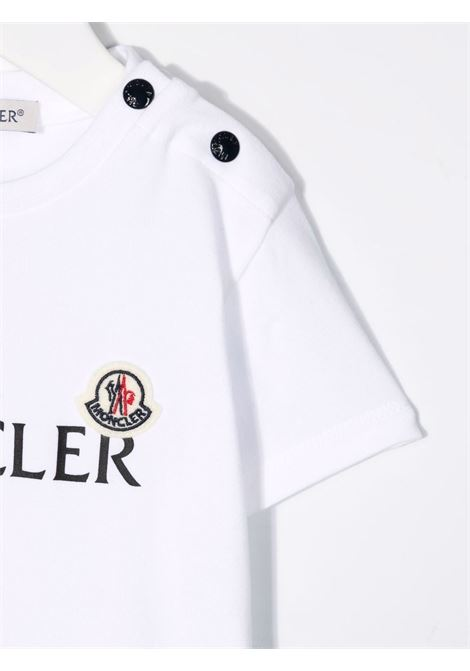 T-shirt bianca MONCLER ENFANT | T-SHIRT | 8C73820B8790M002