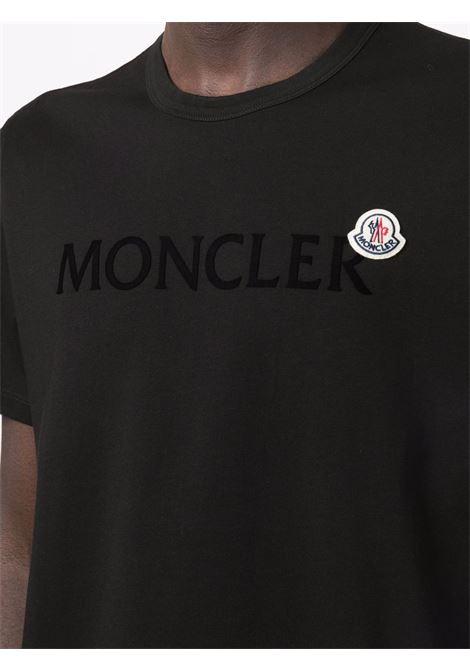 Black t-shirt MONCLER | 8C000228390T999