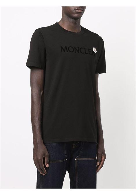 T-shirt nera MONCLER | T-SHIRT | 8C000228390T999