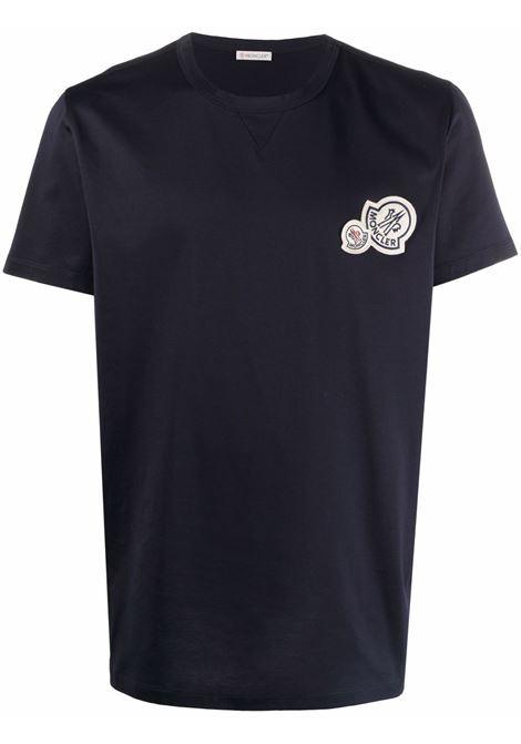 Blue t-shirt MONCLER | 8C000388390Y773