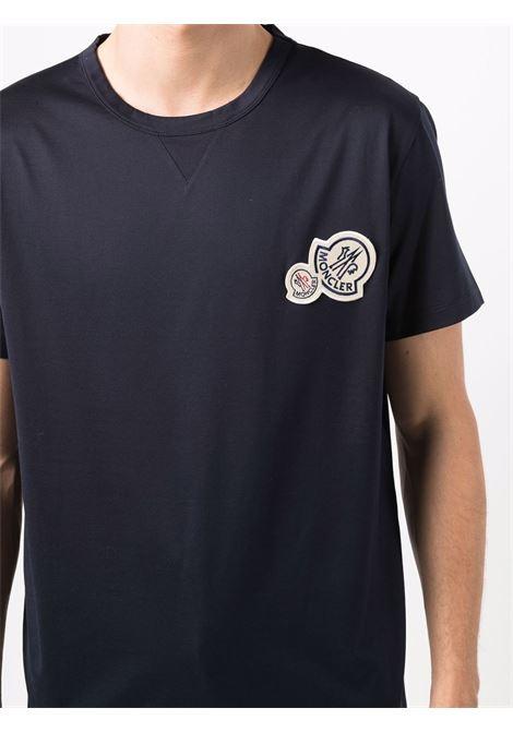 T-shirt blu MONCLER | T-SHIRT | 8C000388390Y773