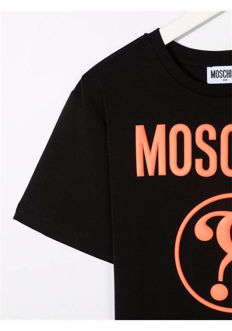 T-shirt nera MOSCHINO KIDS | T-SHIRT | H5M02XLBA0160100