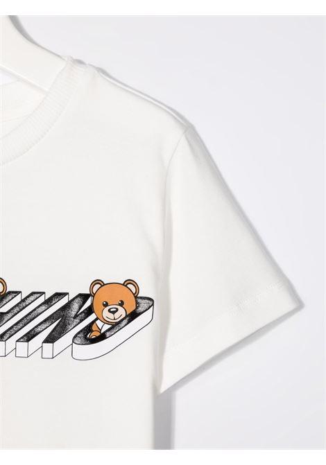 T-shirt bianca MOSCHINO KIDS | T-SHIRT | H8M02SLBA1910063