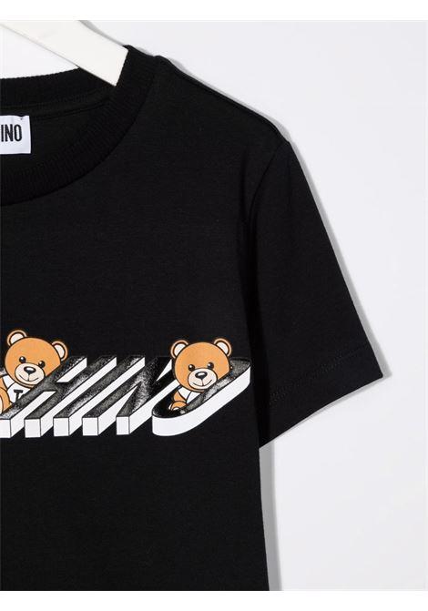 T-shirt nera MOSCHINO KIDS | T-SHIRT | H8M02SLBA1960100