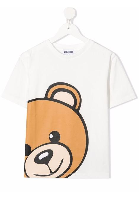 T-shirt bianca MOSCHINO KIDS | T-SHIRT | HXM02XLBA1210063