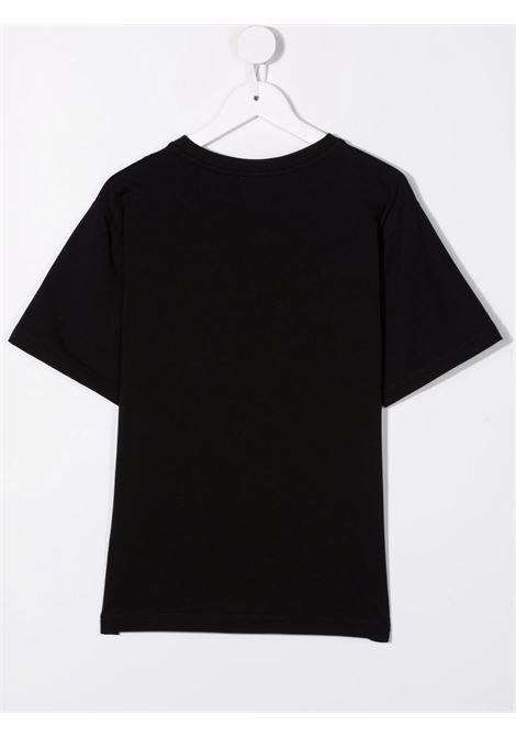 T-shirt nera MOSCHINO KIDS | T-SHIRT | HXM02XLBA1260100