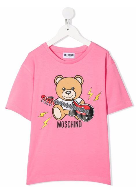 T-shirt rosa MOSCHINO KIDS | T-SHIRT | HZM02XLBA1251470