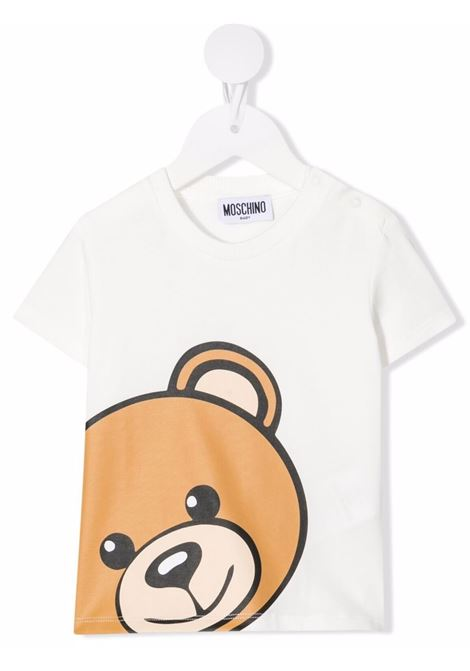 T-shirt bianca MOSCHINO KIDS | M9M02ALBA1210063