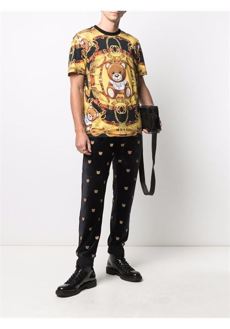 T-shirt nero/giallo MOSCHINO | T-SHIRT | J070752403555